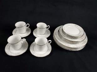Retired Lenox Rosamond Fine China Plates And Cups