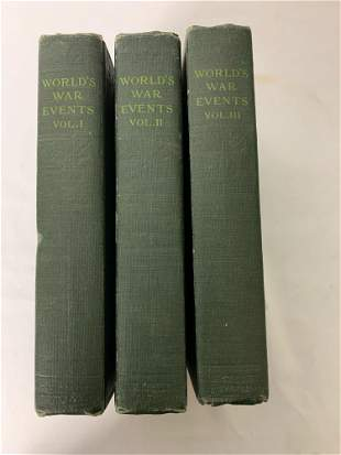 "Hardcover Set "" World's War Events Volumes 1,2,3 """