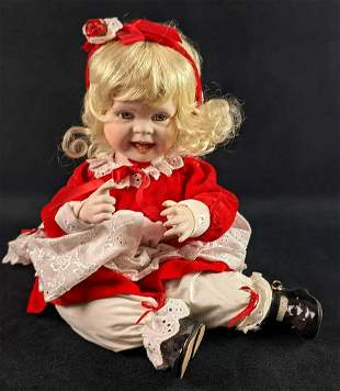 Leah Seated Porcelain Doll By Hamilton Babys Baby's