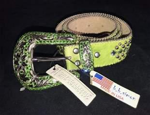 BB Simon Green Hair Belt W Swarovski Crystal XL