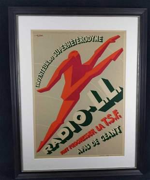 Radio LL Running Man Repro Poster Print by G Favre