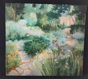 Barbara Cleary Signed Numbered Canvas Garden Path