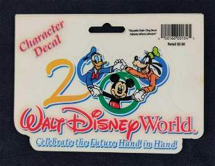 Four Disney World 2000 Character Decals Mickey Donald