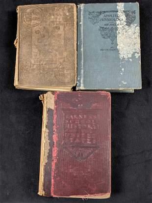 Antique Books Lot of 3