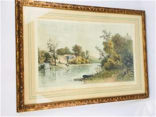 Vintage MARAD Wall Decor Corp. Hand-painted Etching,