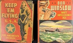 2 Vintage Big Little Books WAR KABOOM