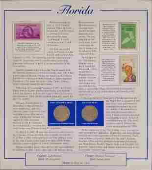 America The Beautiful State Quarters & Stamps Florida