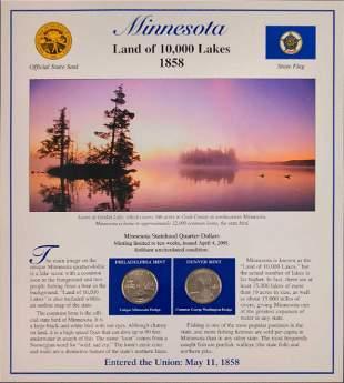 America The Beautiful State Quarters & Stamps Minnesota