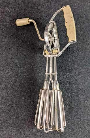 Vintage 1950s Maynard Egg Beater Mixer Stainless Steel