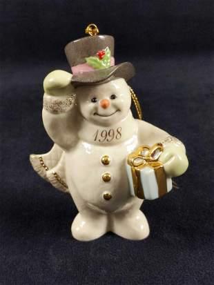 Lenox Fine Porcelain Annual 1998 Snowman Ornament