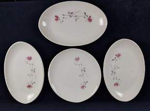 Retired Franciscan Earthenware Duet Four Platters