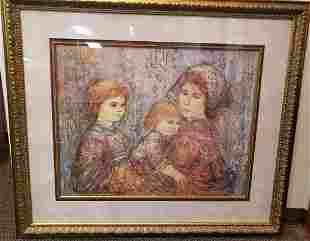 Edna Hibel Family by the Zuider Zee Lithograph