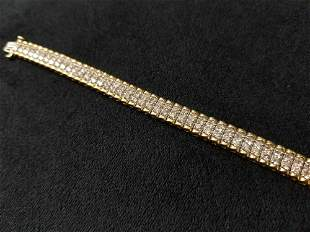 14K Diamond Gold Bracelet