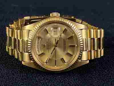 Vintage 1970's Rolex 36MM 18K Gold 1803 Presidential