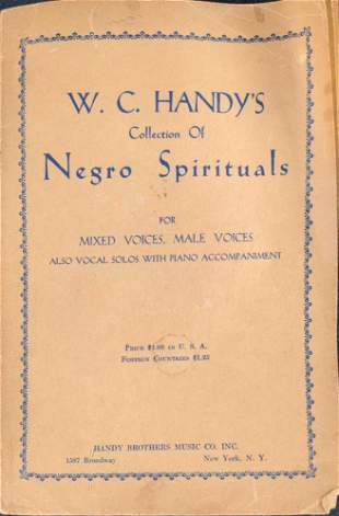 Autographed WC Handys Collection Negro Spirituals