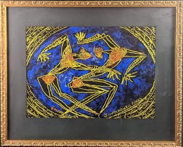 Ekatherina Savtchenko Original Acrylic On Paper X1 B
