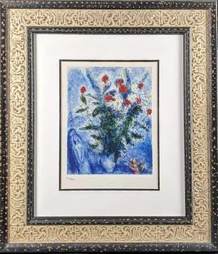 LE Marc Chagall Framed Embellished