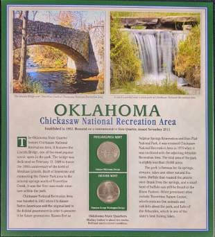 America The Beautiful State Quarters & Stamps Oklahoma