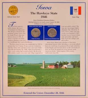 America The Beautiful State Quarters & Stamps Iowa