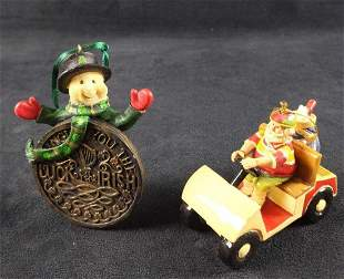 Irish Snowman And Golfing Santa Christmas Ornaments