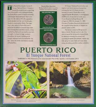 America The Beautiful State Quarters & Stamps Puerto