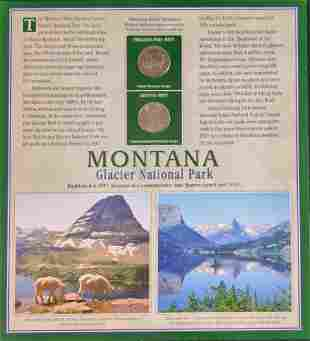 America The Beautiful State Quarters & Stamps Montana