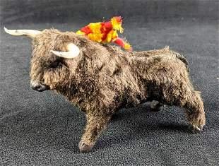 Vintage Souvenir Spanish Fighting Bull Figurine