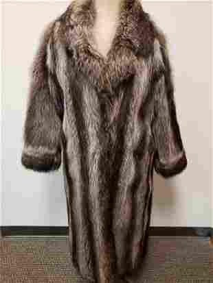 IJ Furs Boston Full Length Raccoon Fur Coat