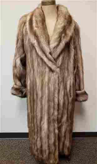 Jaques Ferber Stone Marten Full Length Fur Coat