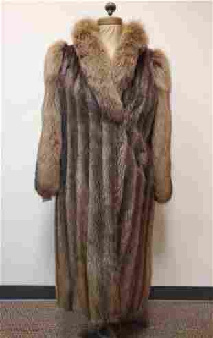 Full Length Vintage Beaver with Dyed Fox Coat