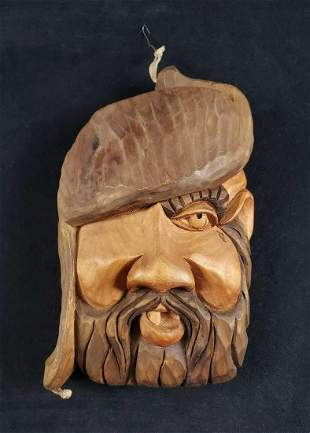 Hand Carved Wood Mountain Man
