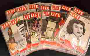 14 Vintage LIFE Magazines Year 1953