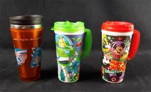 2 Disney World Resort Mugs And Goofy Travel Mug