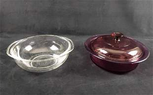 Two Pyrex And Vision Glass Cookware