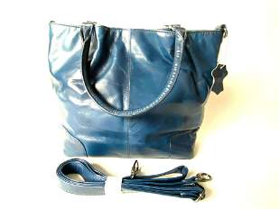Wilson's Leather Blue Purse With Strap