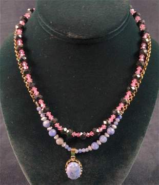 Two Natural Stone Necklaces