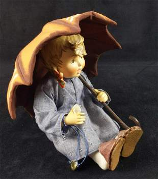 Vintage Goebel Hummel Girl Doll With Umbrella