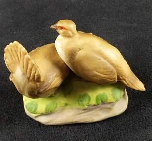 Vintage Capodimonte Birds Italian Porcelain Figurine