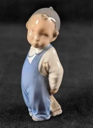 Royal Copenhagen Porcelain Figurine Boy with Broom