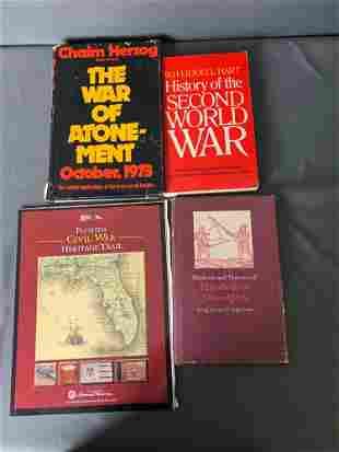 Lot 4 Books: WW 2, Elizabethan Swordplay, Florida Civil