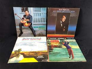 Vintage Vinyl Folk Swing Beat Gospel Lot Of 4