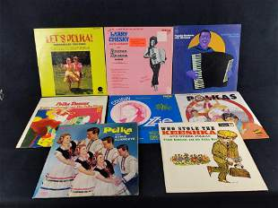 Eight Vintage Polka Vinyl Records Yankovic 1