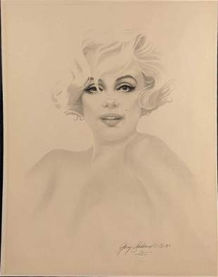 Marilyn Monroe LE Lithograph By Gary Saderup