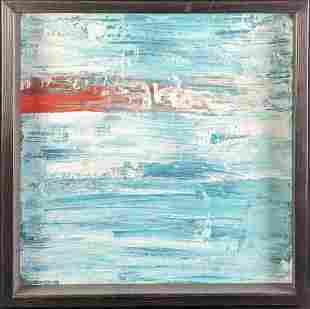 "Original Acrylic On Canvas ""Untitled"" Red Stripe"