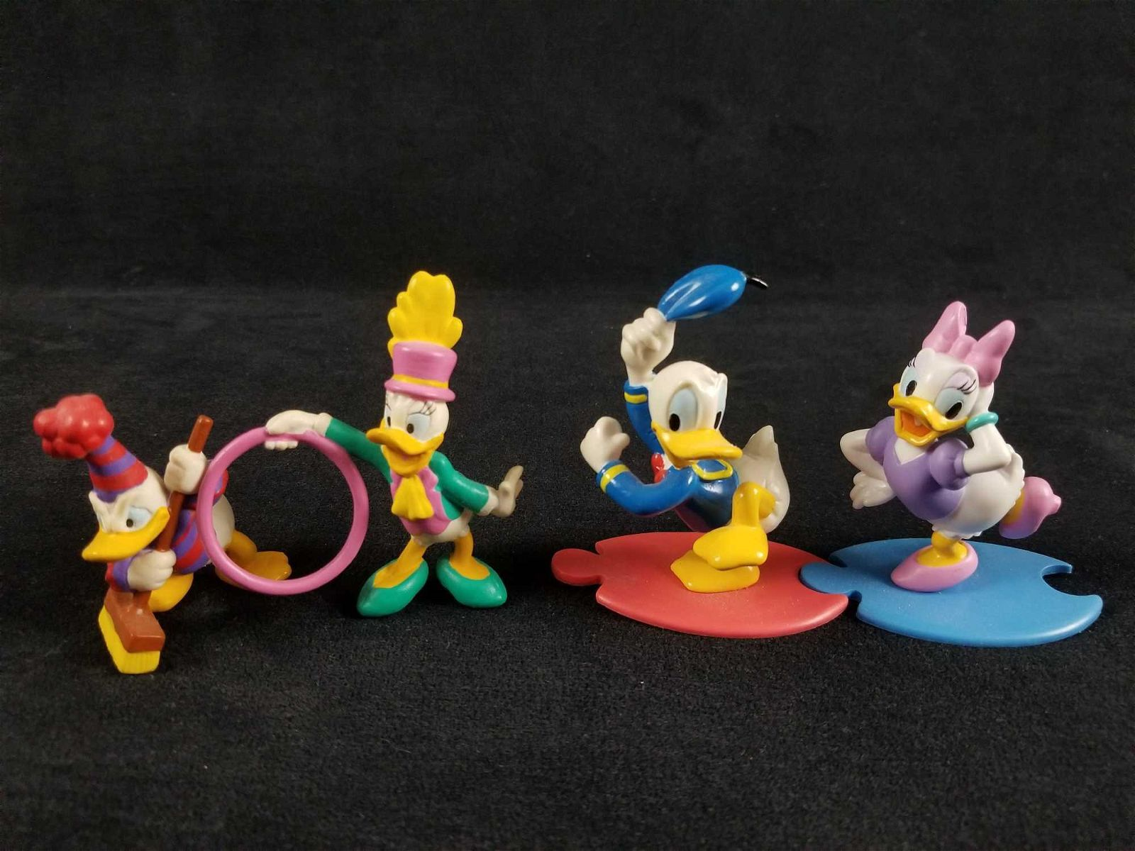 Lot Of Four Vintage Disney Donald And Daisy Duck PVC