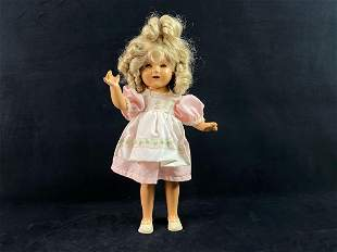 """Antique 1930's Shirley Temple 17"""" Ideal Composition"""