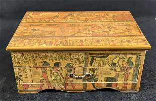 Egyptian Themed Jewelry Nicknack Box