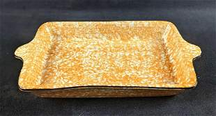 Retired Town And Country Sponge Paint Yellow Pan