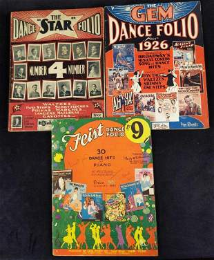 Three Vintage Dance Folio Sheet Music Books