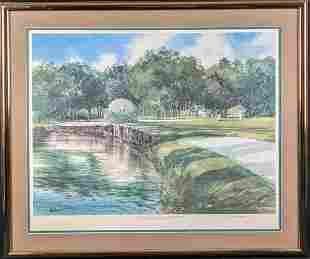 Signed AP Paul Kuchno Litho Harbor Town Golf Links